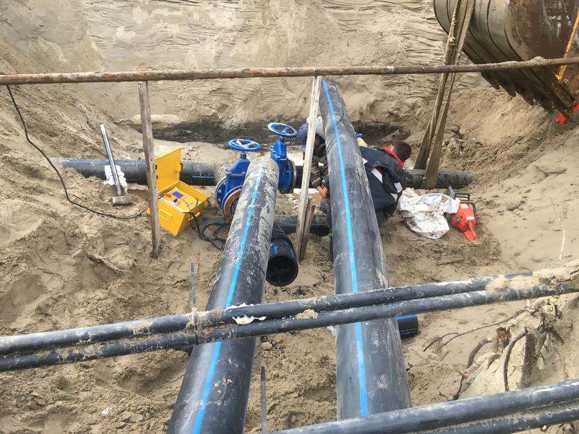 Монтаж наружных систем водоснабжения