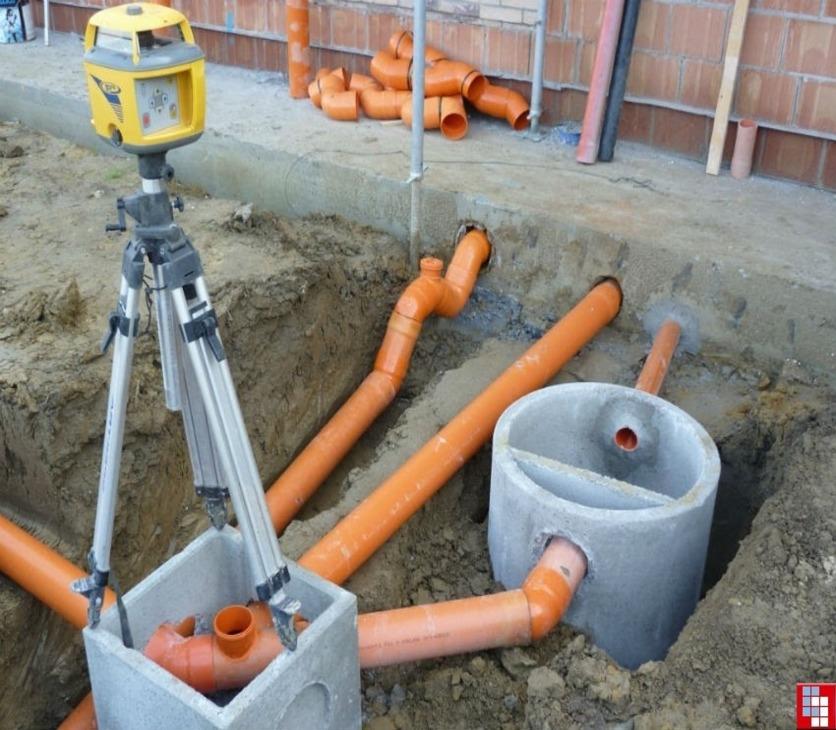Монтаж наружных канализационных сетей